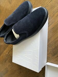 moncler mens gym shoes size 10 us 43 euro brand new nwb blue suede
