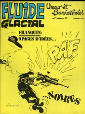FLUIDE GLACIAL N°18. Décembre 1977. Couverture de Franquin.