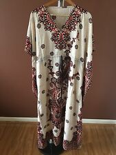 New Arrival Kaftan Boho long maxi dress Beach Holiday Coverup Red Print KFT2106