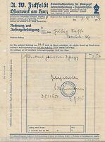 PA0019. U. W. ZICKFELDT, OSTERWIECK AM HARZ, Sonderbuchhandlung. Re. 05.07.1937