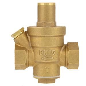 "1pc 1/2""Brass DN15 Water Pressure Reducing Regulator Valve Max 1.6Mpa Adjustable"