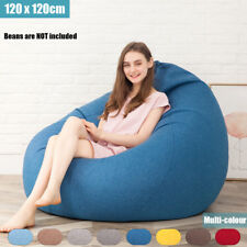 Extra Large Bean Bag Chairs for Adults Kids Couch Sofa Cover Indoor Lazy Lounger