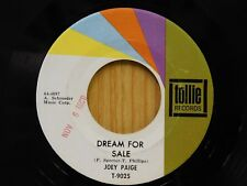 Joey Paige 45 Dream For Sale / Gone Back To Tennessee - Tollie VG+ teen rock