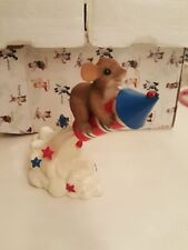 Charming Tails 4th of July lot of 2 figurines