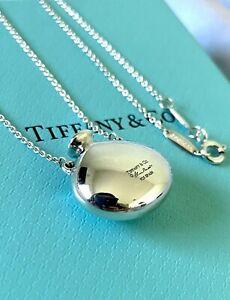 NEW TIFFANY & CO. Elsa Peretti 925 Sterling Silver Necklace Solid Bottle Pendant