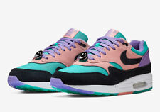 new style ddaba ae81b Nike Air Max 1 Have A Nike Day Black Space Purple White Sizes 3.5Y-