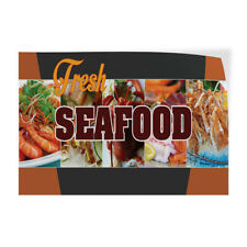 Decal Stickers Fresh Seafood Outdoor Advertising Printing Vinyl Store Sign Label