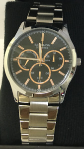 Genuine Sekonda Mens World Time Chronograph Watch 1504, 2 Year  Warranty