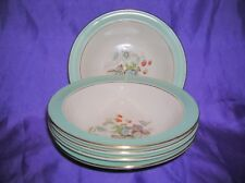 """Crown Ducal 5 x Berry Pudding Dessert Bowls Rimmed Strawberry Fair 5.75"""""""