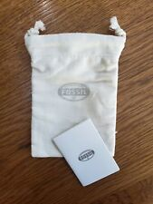 Fossil Jewelry Watch Fabric Bag & Guide