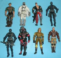 Lot 2002-2005 GI Joe Figure Snake Eyes v22 Snow Serpent v6 Cobra Commander v16