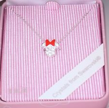 Disney Parks✿Minnie Mouse Bow Head Necklace Made with Crystals from Swarovski