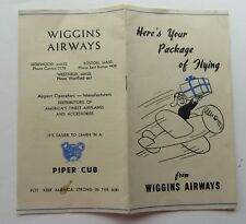 Wiggins Airways Flight Instruction Booklet Offering 6 Packages  Drawings By Dahl