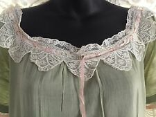 Vintage Nightgown Soft Green Cotton