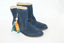 Sporto 8.5 medium navy suede winter snow ankle boots girl