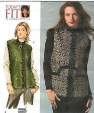 Vogue 2914 V2914 SANDRA BETZINA Boxy Vest Faux Fur Pattern One Size