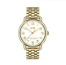 Coach Women's Gold Watch CA.97.7.34.1036 water resistant 3 ATM New without Tags