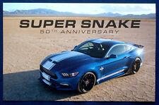 Prospekt brochure 2015-2017 Ford Mustang Shelby Super Snake 50th Anniversary USA