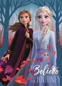 Disney Frozen Elsa & Anna Believe In The Journey Super Soft Fleece Blanket