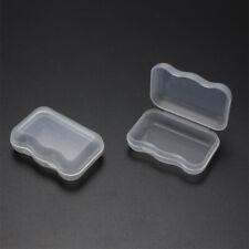 10 Pcs Plastic Storage Box Small Transparent Earplug Jewelry Hook Organizer Case