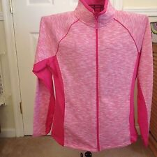 SILVERWEAR LIFESTYLE WOMENS ZIP FRONT JACKET XL PINK NEW WITH TAGS