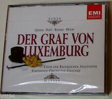 FRANZ LEHAR  DER GRAF VON LUXEMBURG - GEDDA, POPP, BHOME, HOLM -  2 CD Sigillato