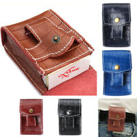 Cigarette Tobacco Pouch Leather Bag Wallet Holder Filter Rolling Paper Portable