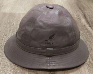 Vintage 1980's Kangol Leather Bucket Hat Grouser - XL Men's