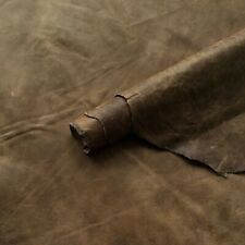 Distressed Brown Italian Leather Hide 0.60m2 0.6mm Thick