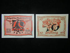 Notgeld der Stadt Arnstadt 10 Pfennig von A. Paul Weber (meine Pos-Nr. 10-1-1)