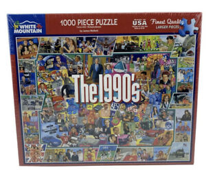 White Mountain THE NINETIES Jigsaw Puzzle 1000 Pieces