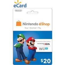 Nintendo $20 USD eShop Gift Card - Nintendo Switch/3DS/WiiU Digital Key [US]
