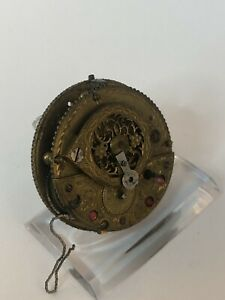 Uhrwerk Spindel Taschenuhr defekt 41,50mm