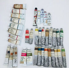Lot Of 37 Artist Watercolor Paint Mixed Lot Grumbacher Winsor Newton Uniprise