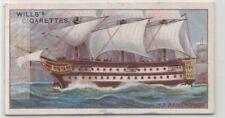 "HMS ""Bellerophon""  Royal Navy Ship Battle of the Nile 100+ Y/O Trade Card"