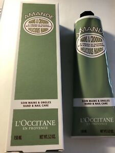 L'Occitane En Provence AMANDE Hand Nail Care Cream JUMBO sized 5.2 oz Mani pedi