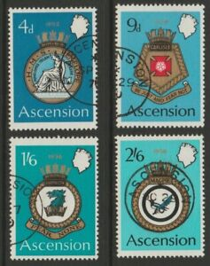 ASCENSION used 1970 Naval Crest 2nd series set sg130-133