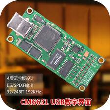 CM6631A DAC Board Digital interface card USB To IIS SPDIF Output 24Bit 192K