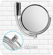 Metlex Majestic Bathroom Swivel Shaving Make-up Mirror Chrome Finish (080)