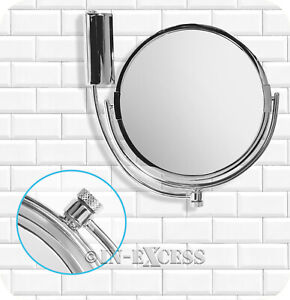 Metlex Majestic Bathroom Swivel Shaving Make-up Mirror Chrome Finish (080)