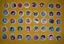 Coca Cola Knibbelbilder 40 Pop Stars 1983 komplett Sammel Bilder Flaschendeckel