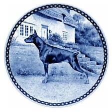 Doberman Pinscher - Dog Plate made in Denmark from the finest European Porcelain