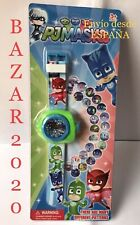 Reloj Proyector Digital Niños Niñas PJ MASK 24 Imágenes, Desde España.