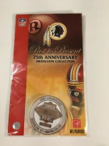 75th Anniversary Medallion Collection Redskins Coin 1987 Superbowl XXII
