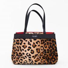 Kate Spade New York Handbag Purse Leopard Print Double Strap Footed Bag