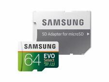 Samsung 64GB 100MB/s (U3) MicroSDXC EVO Select Memory Card with Adapter