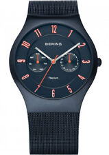 Bering Reloj para hombre 11939-393 ANÁLOGICO acero inoxidable Azul Oscuro