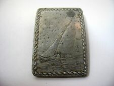 Vintage Wendell August Forge Aluminum Clip SAILBOAT Nautical Theme