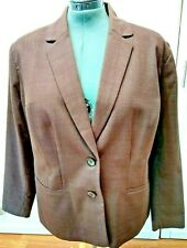 sejour womans size 20 blazer, jacket brown