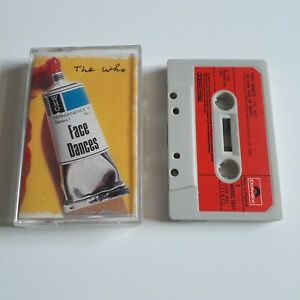 THE WHO FACE DANCES CASSETTE TAPE 1981 RED PAPER LABEL POLYDOR UK